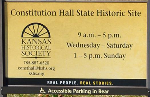 Lecompton Constitution Hall State Historic Site