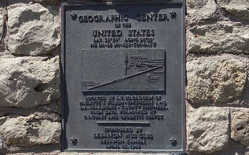 Geographic Center of the United States plaque