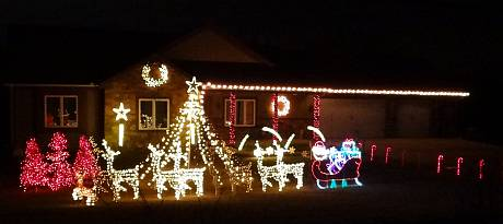 Mason family Christmas light program - Edwardsville, Kansas