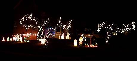 Anne Shirley Drive Christmas Display - Olathe, Kansas