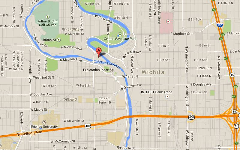 Keeper Of The Plains Wichita Kansas - Kansas rivers map