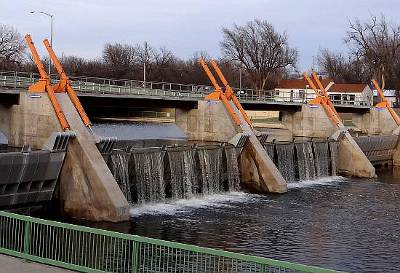 Lincoln Street Dam and Bridge - Wichita, Kansas