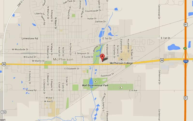 Mcpherson (KS) United States  City pictures : McPherson Museum Map McPherson, Kansas
