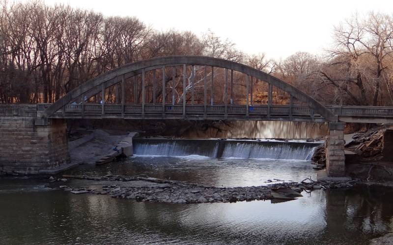 Soden's Grove Bridge and Soden's Dam Falls