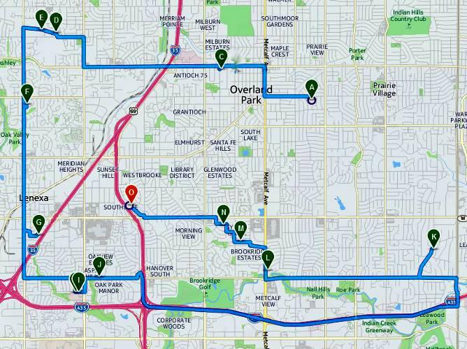 Johnson County Christmas Displays Metro Kansas City - Map kansas