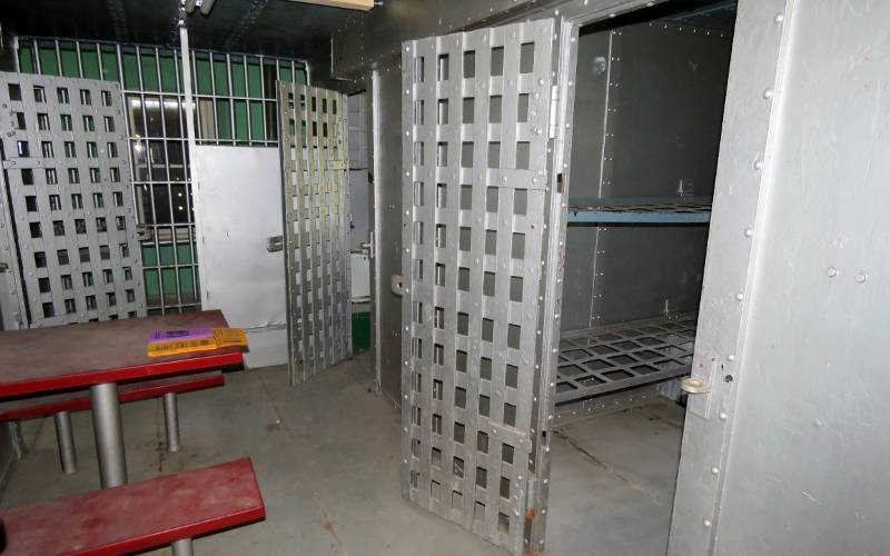 Prison cells in the Jewell County Jail