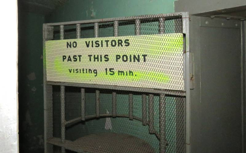 Jail visitors sign