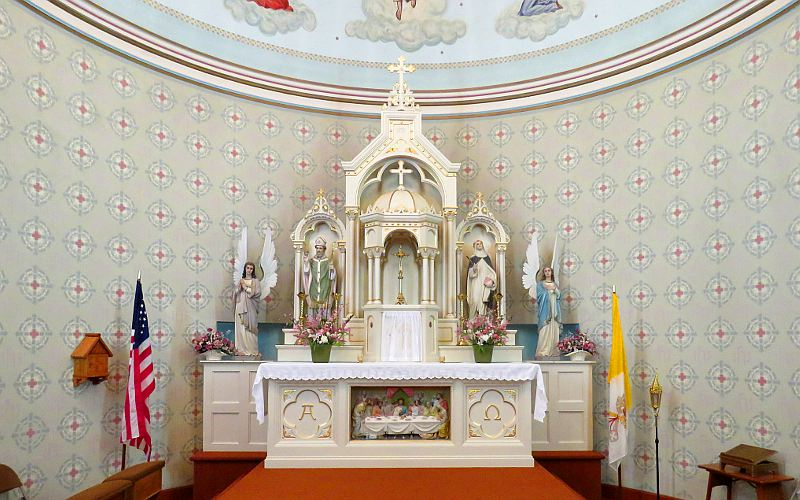 Altar in St. Mary's Catholic Church - McCracken, Kansas