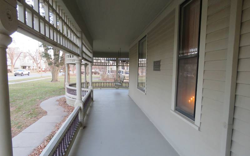 Warkentin House porch - Newton, Kansas