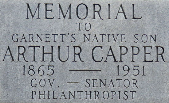 Arthur Capper Memorial - Garnett, Kansas