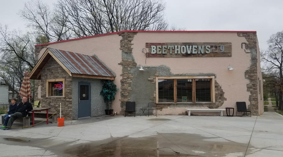 Beethoven's restaurant in Paola, Kansas.