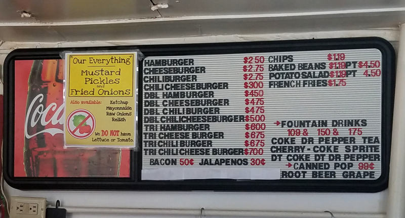Burger Station Menu - Winfield, Kansas