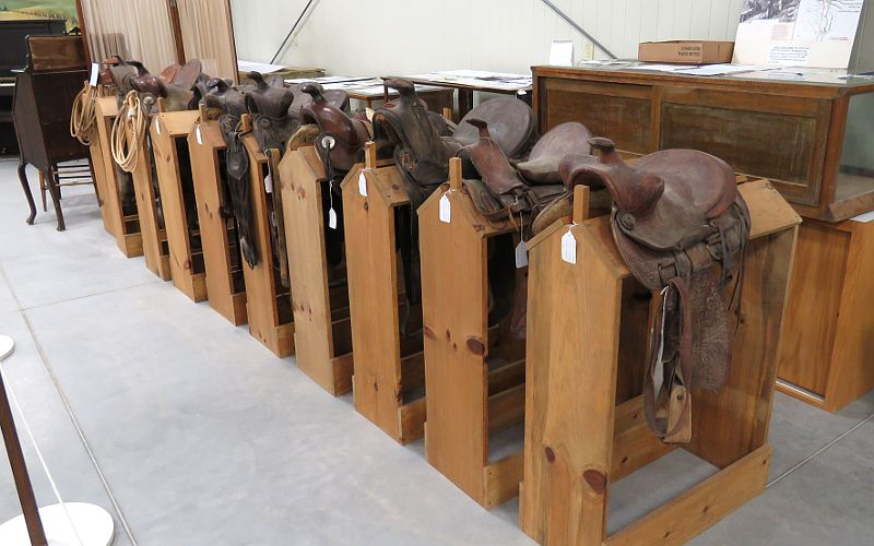 Saddles in the Trego County Historial Museum