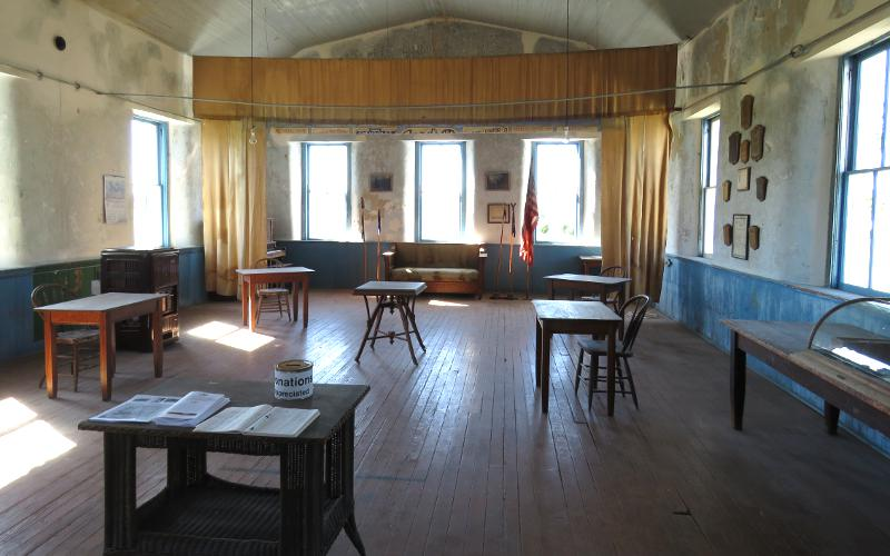 meeting room in the Vinland Grange Hall