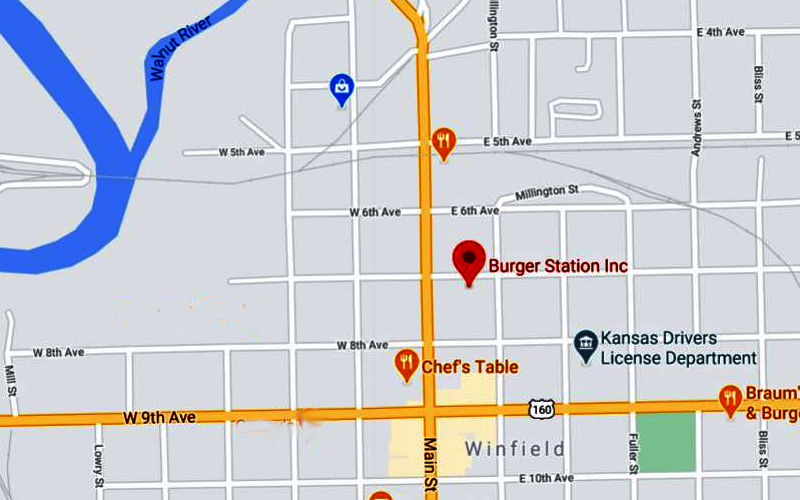 Burger Station Map - Winfield, Kansas