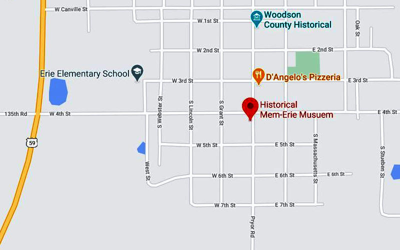 Mem-Erie Historical Museum Map - Erie, Kansas