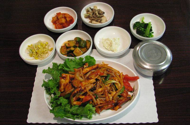stir fried baby octopus - Korean Garden restaurant