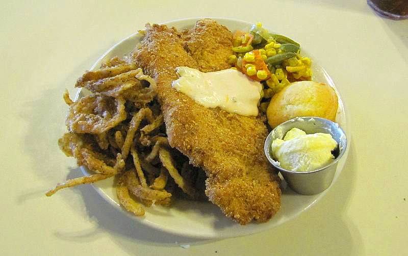 nut crusted catfish - Cafe on the Route