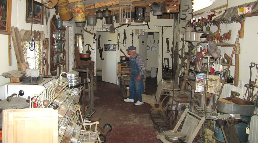 Ted Houser in Ted's Old Iron Farm and Museum