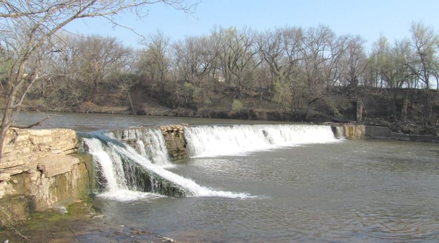 Drury Dam Waterfall - Caldwell, Kansas