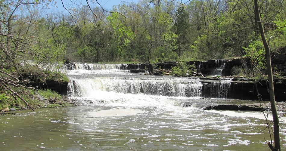 Rock Creek Lake Waterfall
