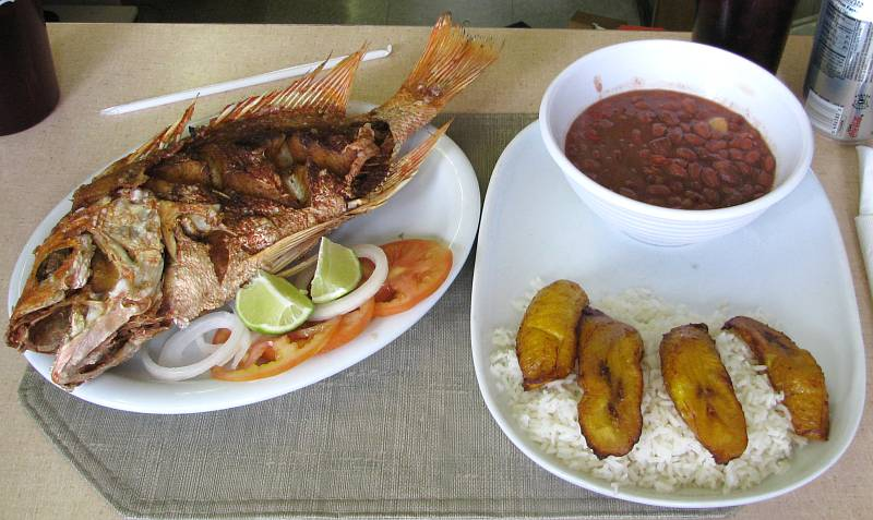 how to cook beans and fried plantain