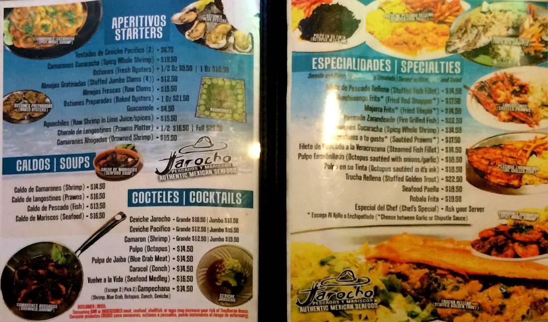 Jarocho pescados y mariscos kansas city kansas for Fish on fire menu