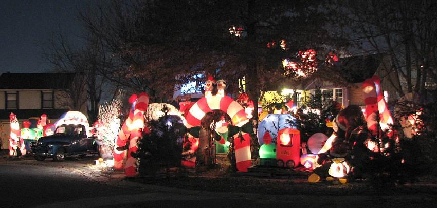 Paulie's Penguin Playground - Christmas display in Olathe, Kansas