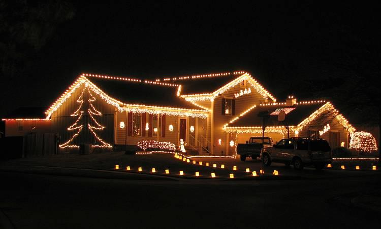 Christmas Decorated Homes christmas card lane - olathe, kansas