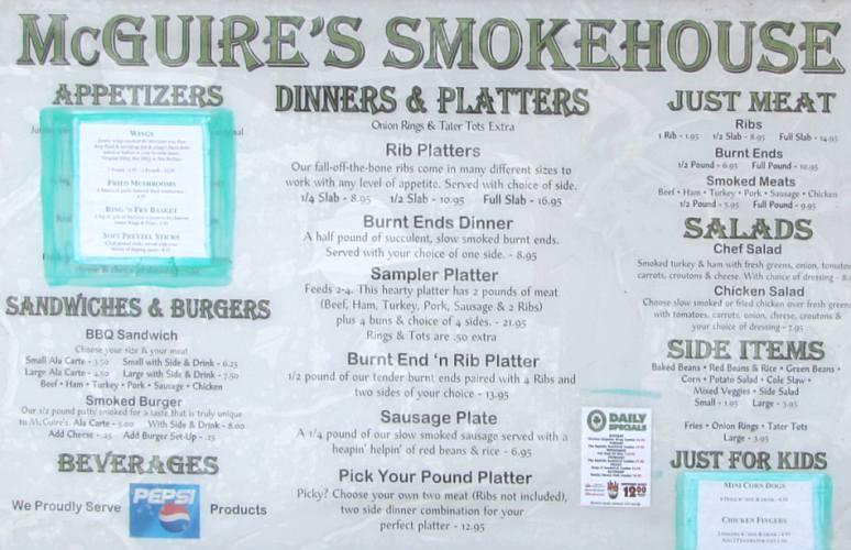 Mcguire S Smokehouse Olathe Kansas