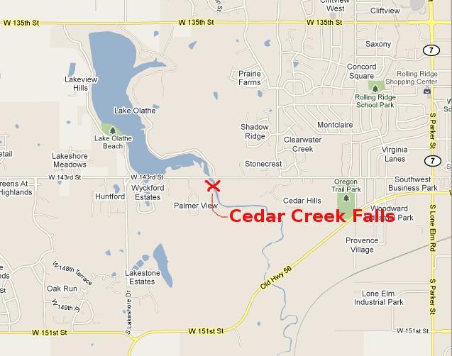 Cedar Creek Falls Olathe Kansas