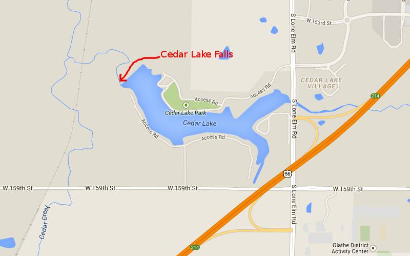 Cedar Lake Falls Olathe Kansas