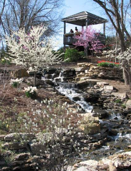 Waterfall in the Overland Park Arboretum