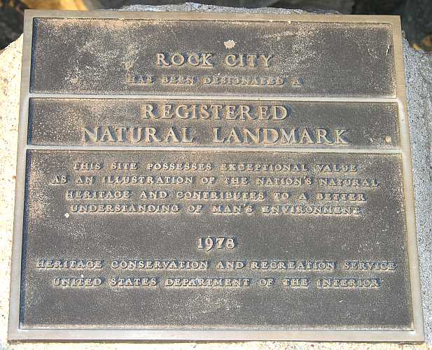 Rock City registered Natural Landmark