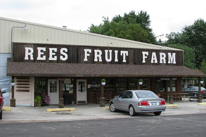 Rees fruit farm is east of topeka kansas at the intersection of k
