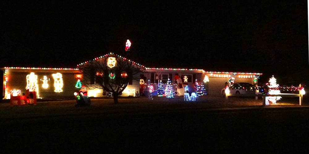 Pleasant Topeka Christmas Light Display Tour Kansas Easy Diy Christmas Decorations Tissureus