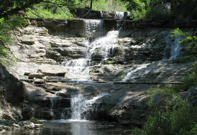 Chase Lake Falls - Cottonwood Falls, Kansas